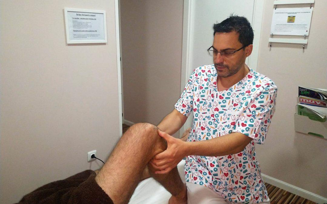 Tratamiento de la pata de ganso con osteopatía